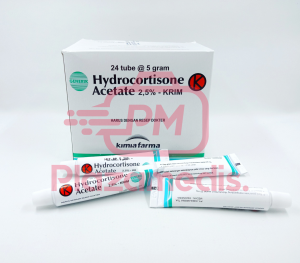 HYDROCORTISONE ACETATE 2,5 % KRIM KIMIA FARMA